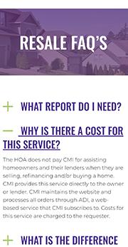 CMI resale FAQ's mobile