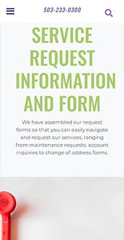 CMI service request information mobile
