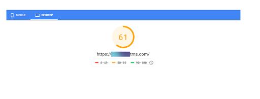 pagespeed highlighting desktop speed